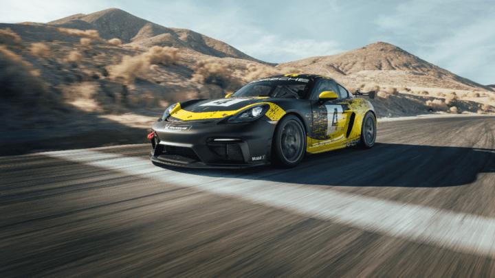 La nuova Porsche 718 Cayman GT4 Clubsport include parti della carrozzeria in fibra naturale