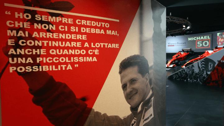 """""""MICHAEL 50"""": la mostra dedicata a Schumacher. GUARDA IL BELLISSIMO VIDEO"""