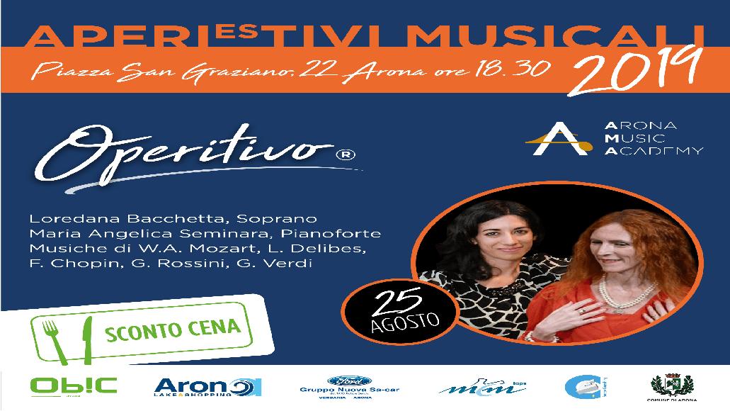 Arona Music Academy vi invita all'Operitivo domenica 25 agosto 2019