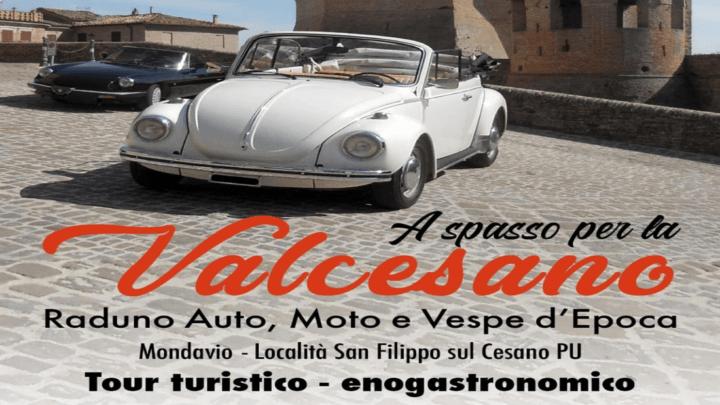 A spasso per la Valcesano: raduno auto moto e vespe d'epoca per promuovere il territorio